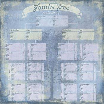 Karen Foster Design - My Legacy Collection - Paper - Family Tree Pedigree