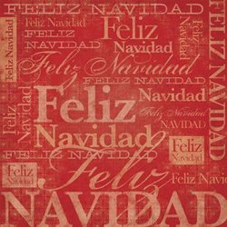 Karen Foster Design - Spanish Momentos Collection - Paper - Red Christmas - Feliz Navidad, CLEARANCE