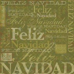 Karen Foster Design - Spanish Momentos Collection - Paper - Green Christmas - Feliz Navidad