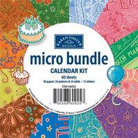 Karen Foster Design - Calendar Creations - Micro Bundle Calendar Kit - 4 x 4 - to use with Calendar Base