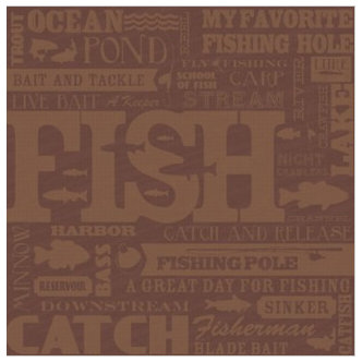 Karen Foster Design - Fishing Collection - 12x12 Paper - Fish Collage