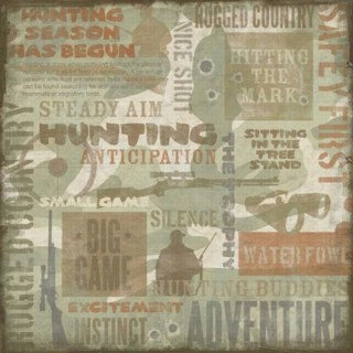 Karen Foster Design - Hunting Collection - 12x12 Paper - Hunting Collage