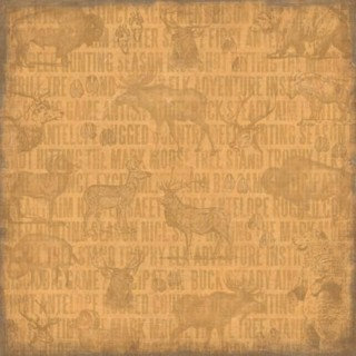 Karen Foster Design - Hunting Collection - 12x12 Paper - Big Game Hunting