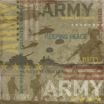 Karen Foster Design - Military Collection - 12x12 Paper - Army