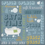 Karen Foster Design - Bath Time Collection - 12 x 12 Paper - Bath Time Collage