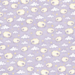 Karen Foster Design - Baby Girl Collection - 12 x 12 Paper - Counting Sheep, CLEARANCE