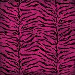 Karen Foster Design - Sweet 16 Collection - 12 x 12 Paper - Pink Zebra Print, CLEARANCE