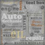 Karen Foster Design - Auto Mechanic Collection - 12 x 12 Paper - Auto Mechanic Collage
