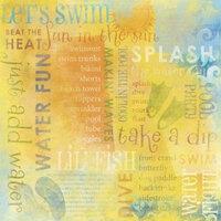 Karen Foster Design - Water Fun Collection - 12 x 12 Paper - Water Fun Collage