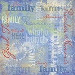 Karen Foster Design - Picnic Family Reunion Collection - 12 x 12 Paper - Family Traditions Collage