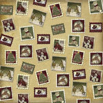 Karen Foster Design - Christmas Collection - 12 x 12 Paper - Christmas Stamps