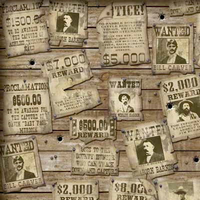 Karen Foster Design - Cowboy Collection - 12 x 12 Paper - Wanted