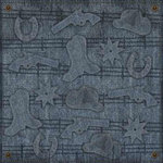 Karen Foster Design - Cowboy Collection - 12 x 12 Paper - Denim Blues