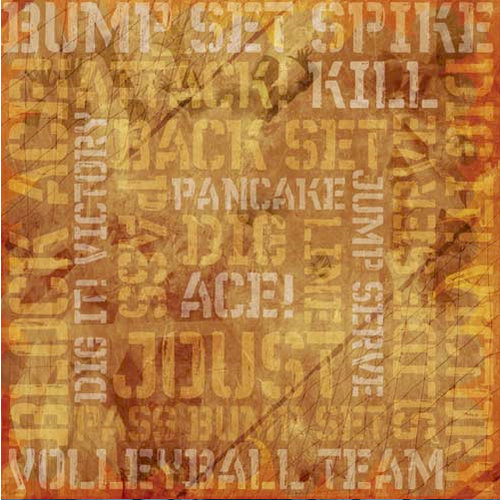 Karen Foster Design - Volleyball Collection - 12 x 12 Paper - Victory Collage