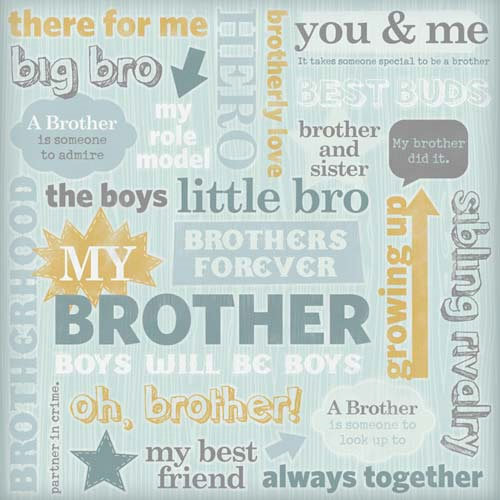 Karen Foster Design - Brother Collection - 12 x 12 Paper - Brothers Collage