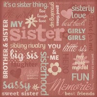 Karen Foster Design - Sister Collection - 12 x 12 Paper - Sisters Collage