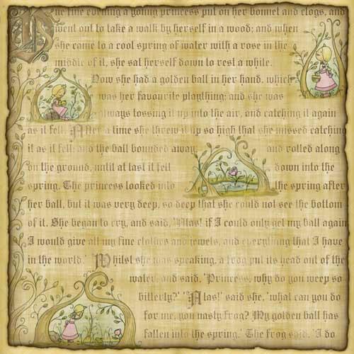 Karen Foster Design - Princess Collection - 12 x 12 Paper - Princess Fable