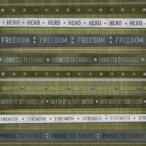 Karen Foster Design - Military Collection - 12 x 12 Paper - Hero Stripes