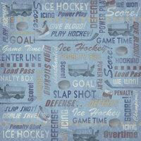 Karen Foster Design - Hockey Collection - 12 x 12 Paper - Hockey Collage