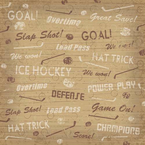 Karen Foster Design - Hockey Collection - 12 x 12 Paper - Hat Trick