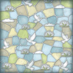 Karen Foster Design - Baptism Collection - 12 x 12 Paper - Stained Glass