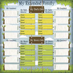 Karen Foster Design - Kids' Ancestry Collection - 12 x 12 Paper - My Family Chart