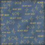 Karen Foster Design - Doctor Visit Collection - 12 x 12 Paper - Heart Beep