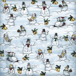 Karen Foster Design - Whimsical Christmas Collection - 12 x 12 Paper - Snow Much Fun