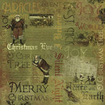Karen Foster Design - Vintage Christmas Collection - 12 x 12 Paper - Silent Night Collage