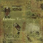 Karen Foster Design - Vintage Christmas Collection - 12 x 12 Paper - Silent Night Collage