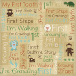 Karen Foster Design - Baby's First Collection - 12 x 12 Paper - Growing Up Collage