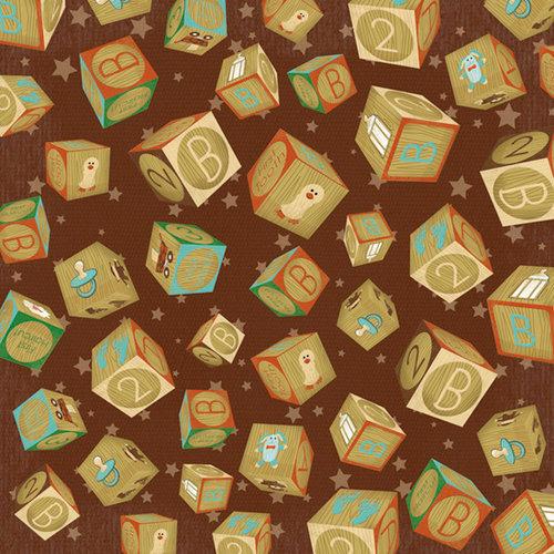 Karen Foster Design - Baby's First Collection - 12 x 12 Paper - Baby's 1st Blocks