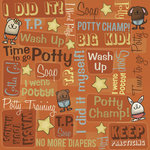 Karen Foster Design - Potty Training Collection - 12 x 12 Paper - Gotta Go Collage