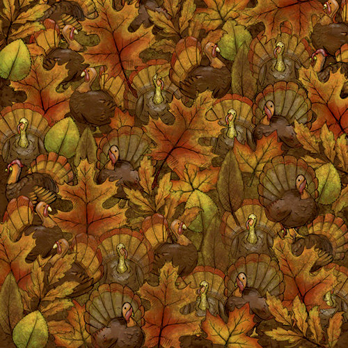 Karen Foster Design - Thanksgiving Collection - 12 x 12 Paper - Where's the Turkey
