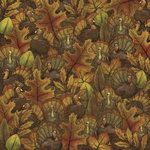 Karen Foster Design - Thanksgiving Collection - 12 x 12 Paper - Where's the Turkey
