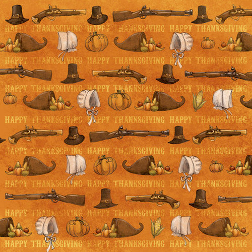 Karen Foster Design - Thanksgiving Collection - 12 x 12 Paper - Pilgrim's Pride