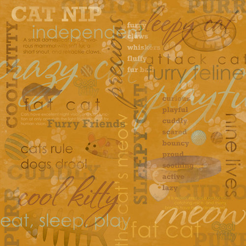 Karen Foster Design - Cat Collection - 12 x 12 Paper - Fat Cat Collage