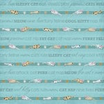 Karen Foster Design - Cat Collection - 12 x 12 Paper - Cool Kitty Stripes