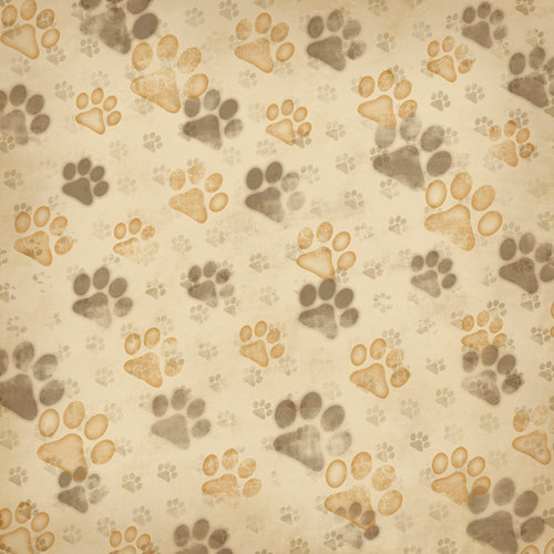 Karen Foster Design - Dog Collection - 12 x 12 Paper - Love Those Paws