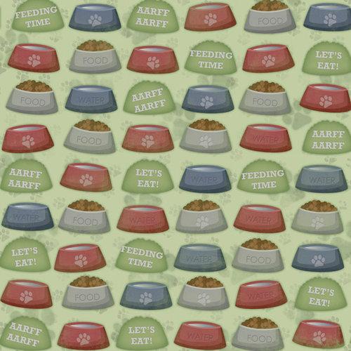 Karen Foster Design - Dog Collection - 12 x 12 Paper - Feeding Time