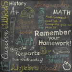 Karen Foster Design - School Collection - 12 x 12 Paper - Chalkboard Collage