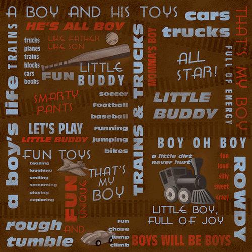 Karen Foster Design - Little Boy Collection - 12 x 12 Paper - Little Buddy Collage