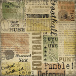 Karen Foster Design - Football Collection - 12 x 12 Paper - Game Day Collage