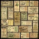 Karen Foster Design - Football Collection - 12 x 12 Paper - Football Tickets