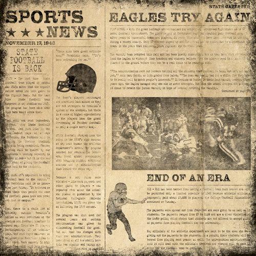 Karen Foster Design - Football Collection - 12 x 12 Paper - Sports News