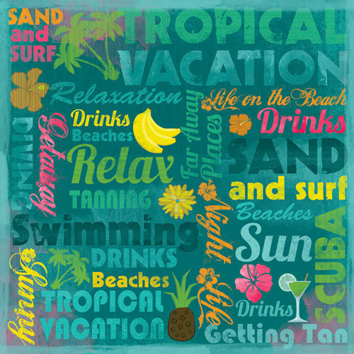 Karen Foster Design - 12 x 12 Paper - Life On The Beach Collage