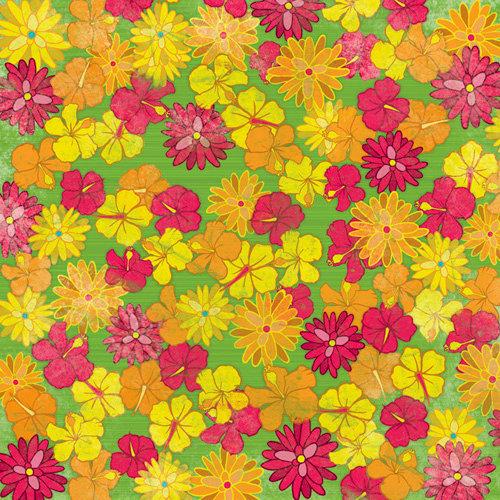 Karen Foster Design - 12 x 12 Paper - Tropical Flowers