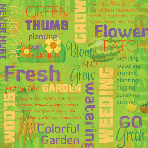 Karen Foster Design - 12 x 12 Paper - Planting Our Garden Collage