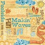 Karen Foster Design - Water Fun Collection - 12 x 12 Paper - Makin' Waves Collage