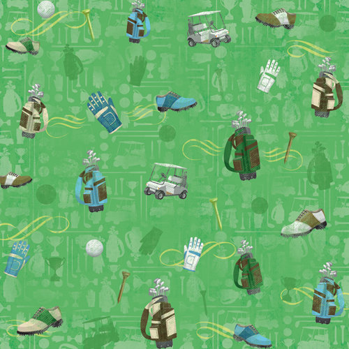 Karen Foster Design - Golf Collection - 12 x 12 Paper - Men's Golf Gear